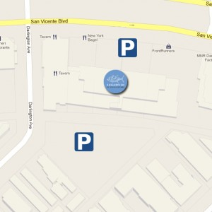 parking map of SUGARFISH Brentwood