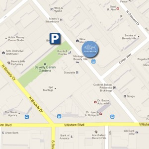 SUGARFISH Beverly Hills Parking Map
