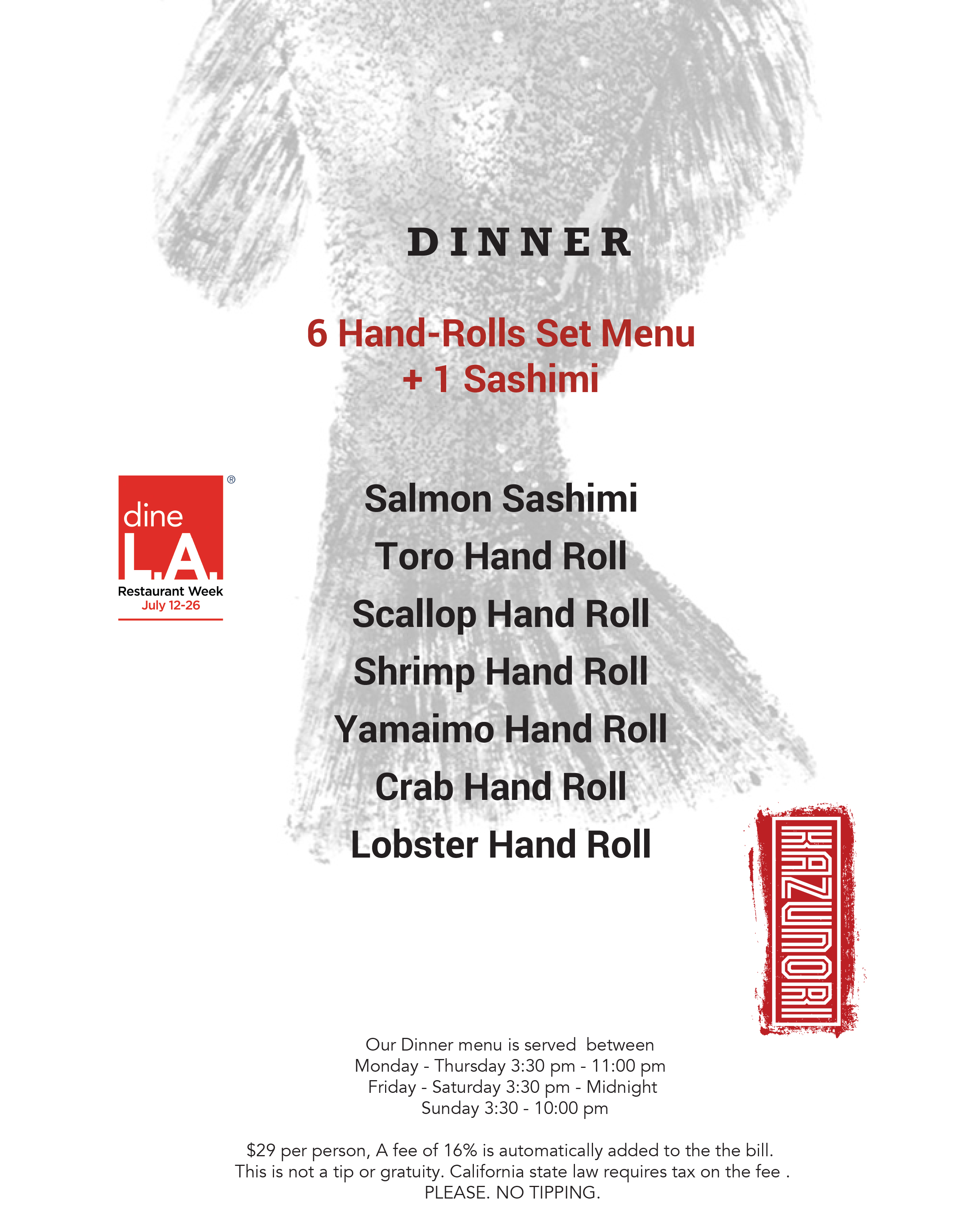 dineLA Summer 2019 Menu
