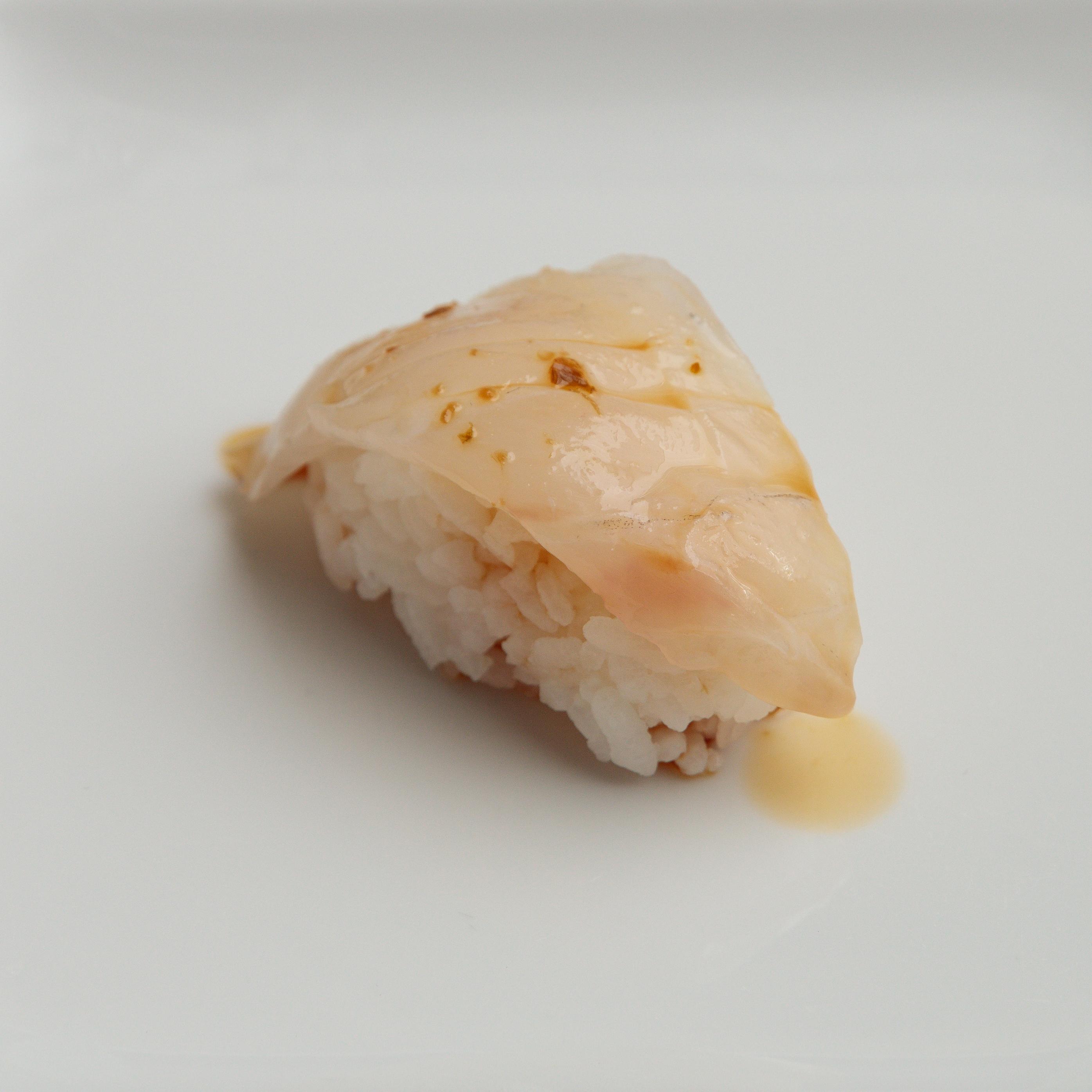 Single piece of SUGARFISH Sea Bass nigiri
